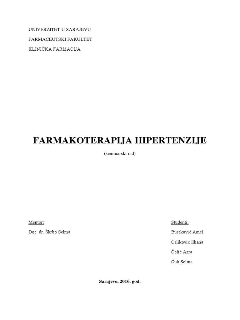 liječenje hipertenzije preporukama dojenja