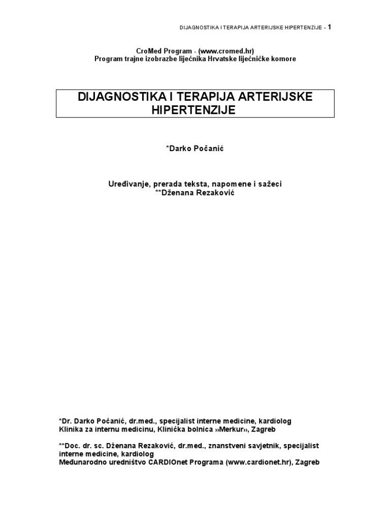 preporuke kardiologa liječenje hipertenzije)