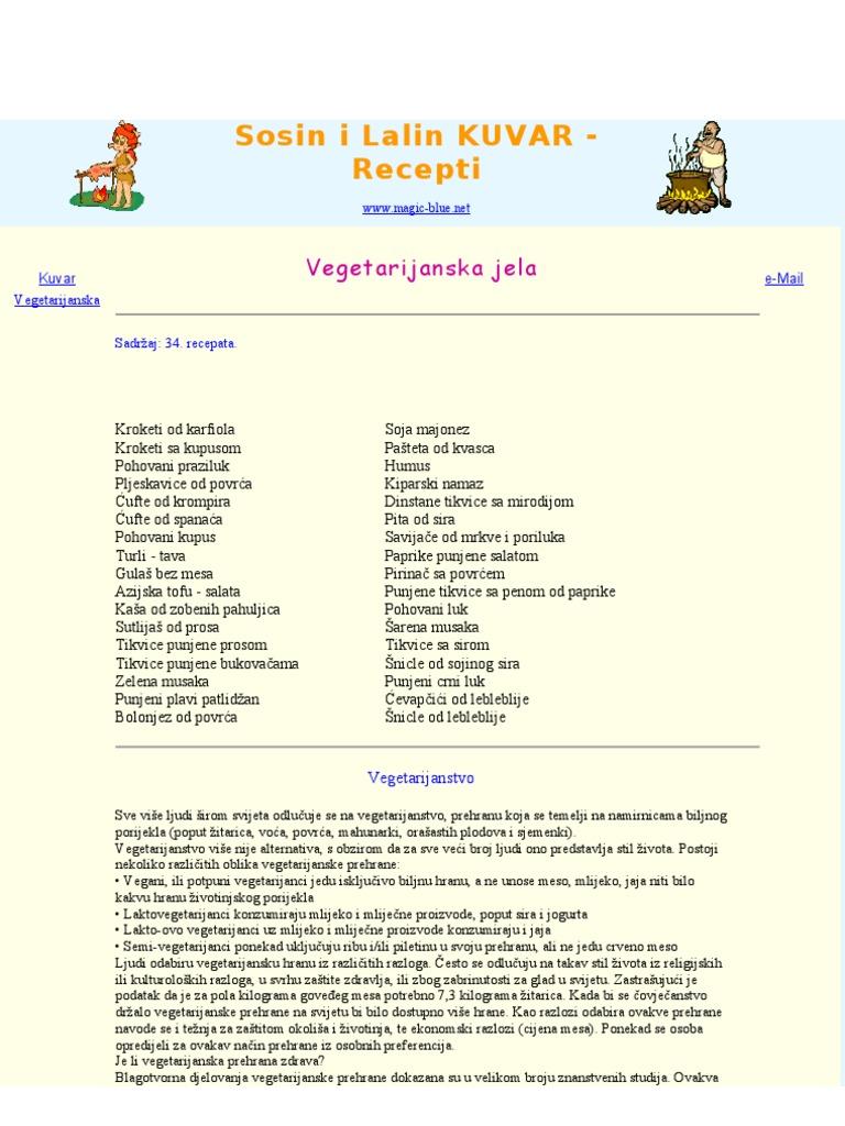 Vegetarijanstvo i hipertenzija - Povrće