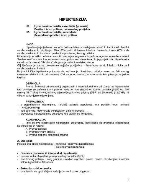 postupak za liječenje hipertenzije)