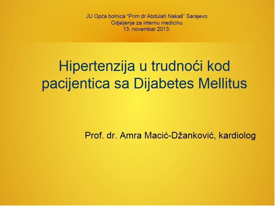 hipertenzija, dijabetes melitus liječenje)