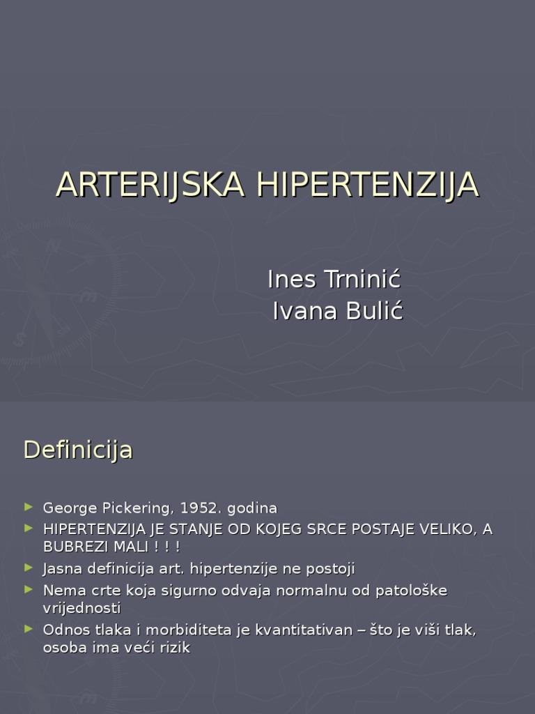 hipertenzije, kroničnog angina)