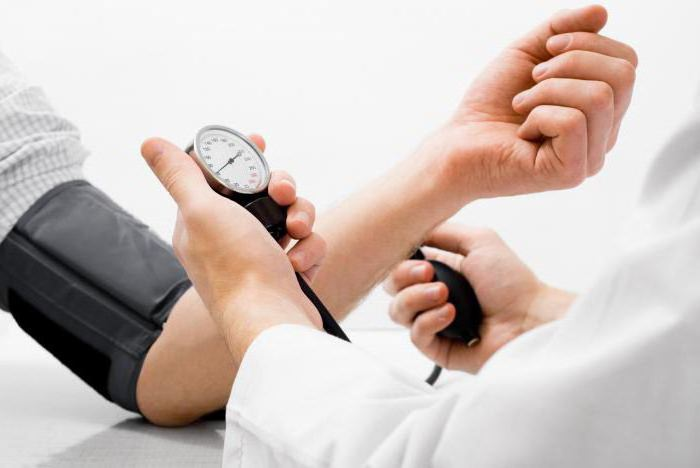 visoki krvni tlak, a tlak u komori)