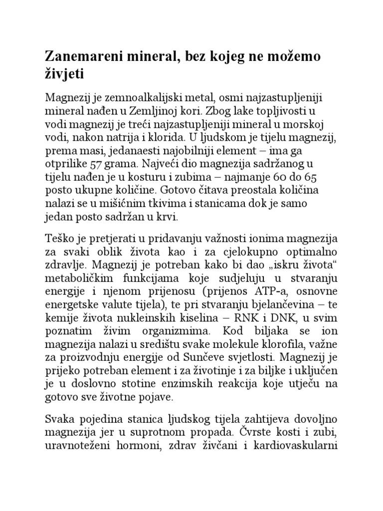 magnezij doza hipertenzije)