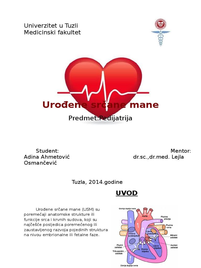 hipertenzije, lijevog atrija)