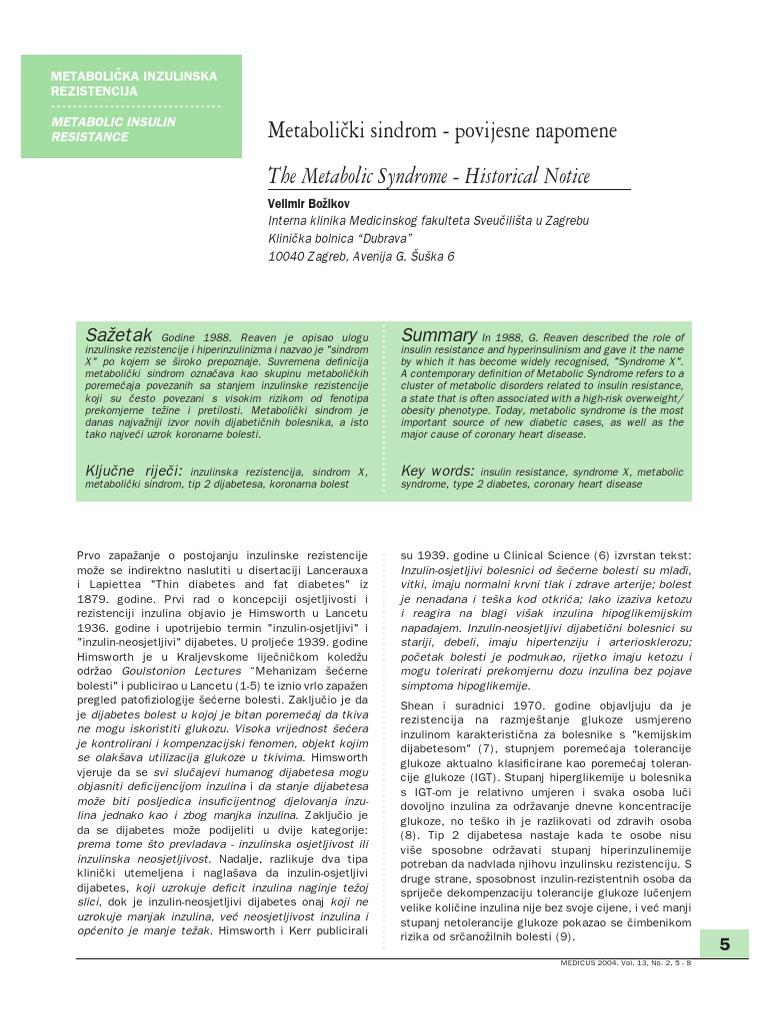 metabolički poremećaj i hipertenzije
