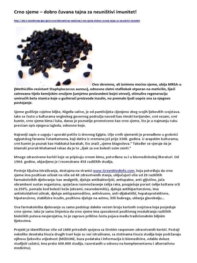 crni kumin od hipertenzije
