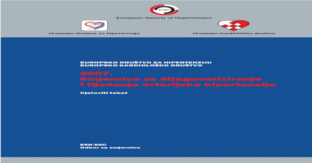 Fiksne kombinacije antihipertenzivnih lijekova - symposium-h2o.com
