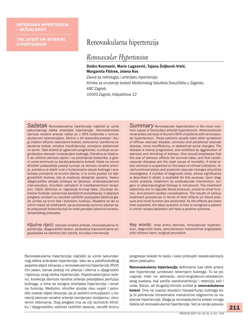 Liječenje arterijske hipertenzije u ordinaciji obiteljske medicine - symposium-h2o.com
