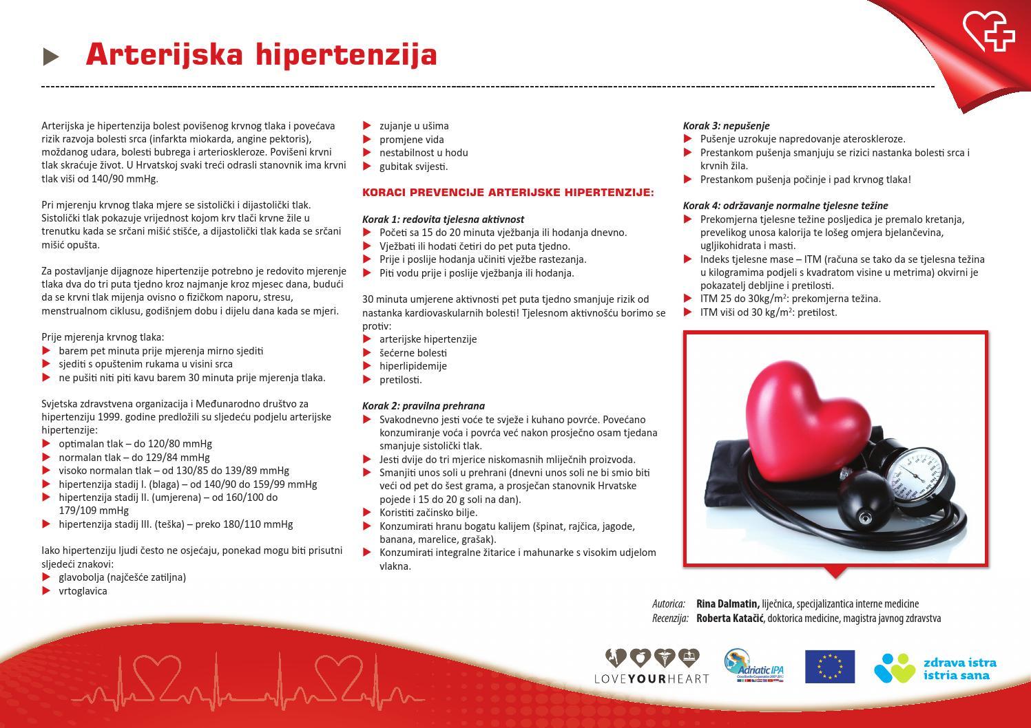 hipertenzije, moždanog udara)