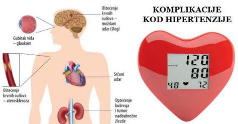 hipertenzije, srčanih komplikacija)