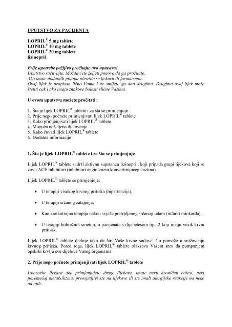 lijekove za visok krvni pritisak atenolola)