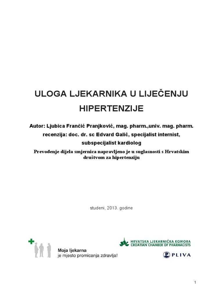 nuspojave hipertenzije)