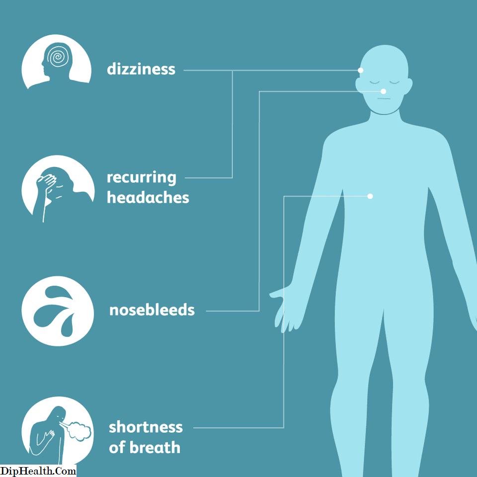 rijetke simptomi hipertenzije