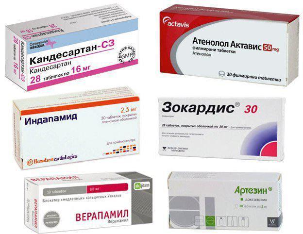 lijekove za popis hipertenzije