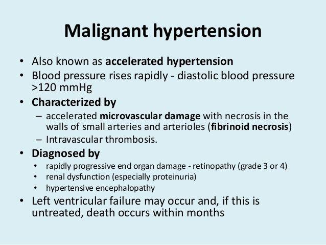 maligna hipertenzija od liječenja
