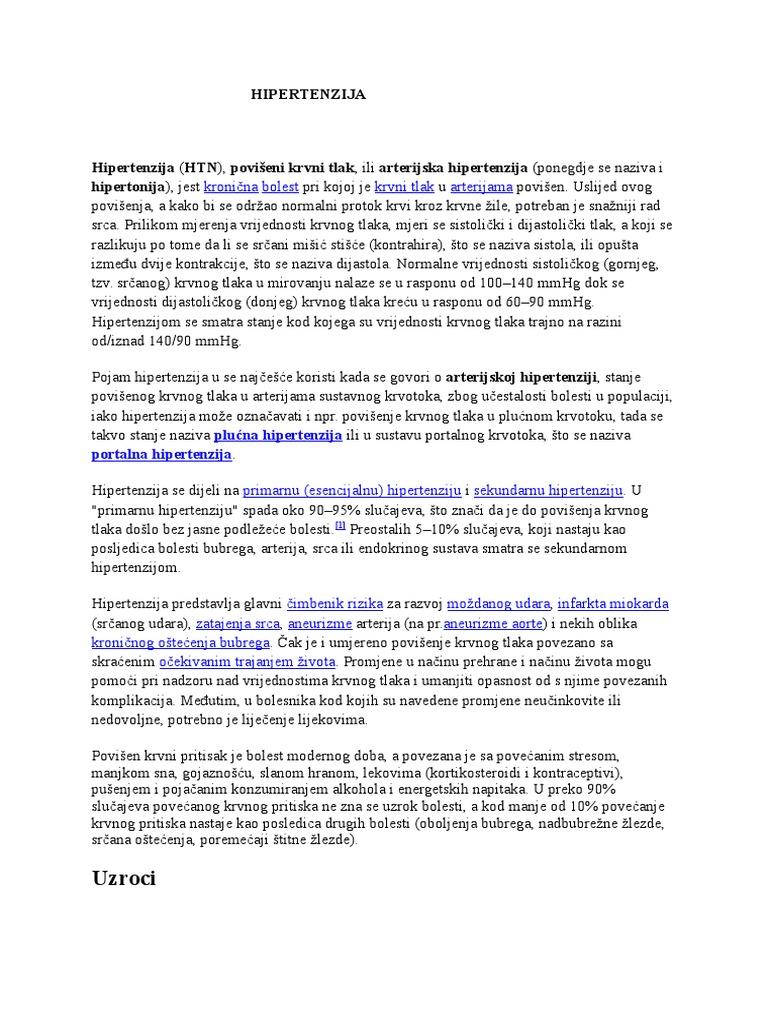 inhibitora u liječenju hipertenzije