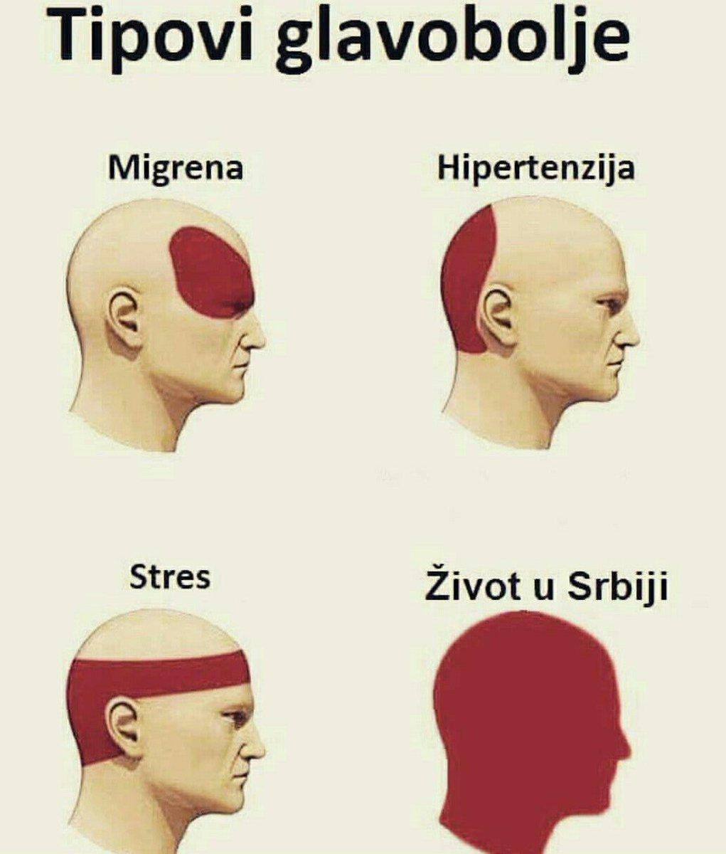 glavobolje, hipertenzije)