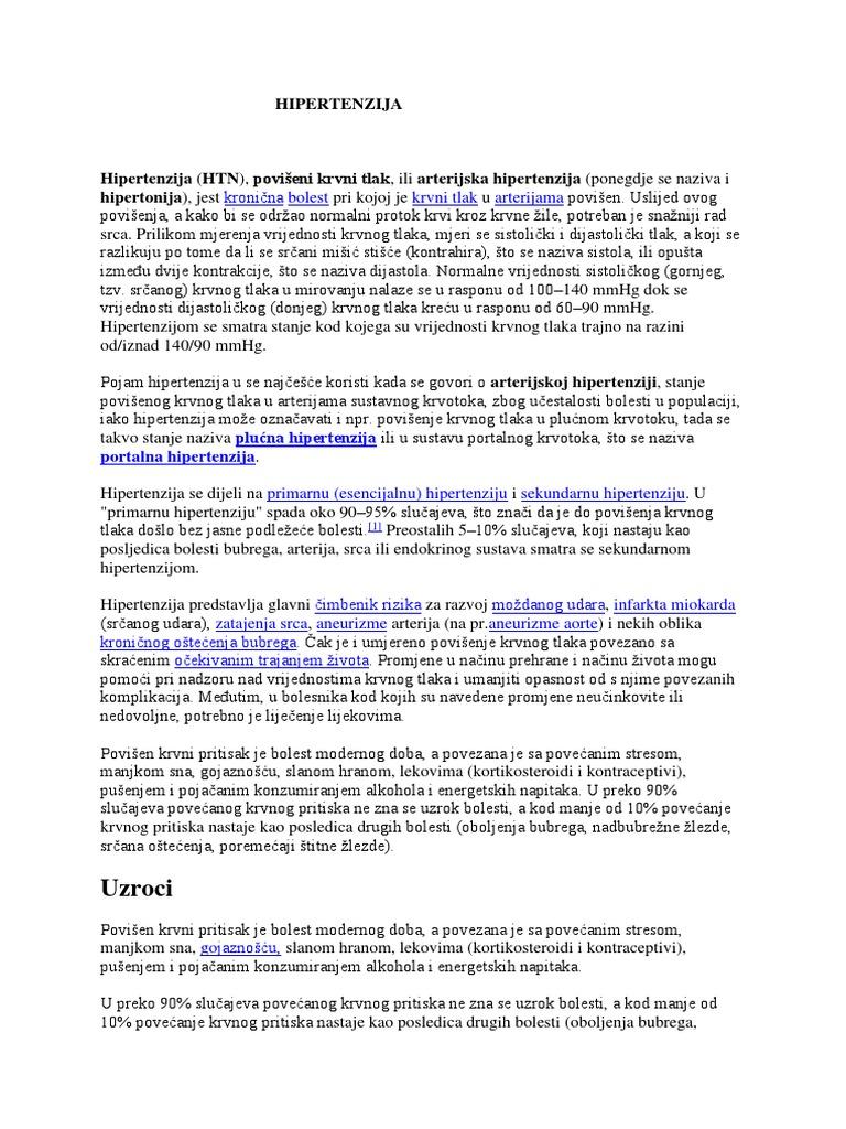lista diuretici za hipertenziju